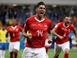 Zuber scored in the 1-1 draw with Brazil at the World Cup